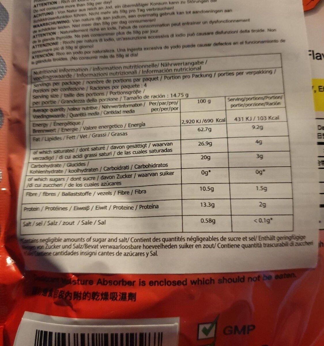 Crispy Seaweed - Nutrition facts - en