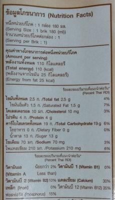 แมกโนเลียพลัสกิงโกะ รสไวท์มอลต์ - Informations nutritionnelles - th