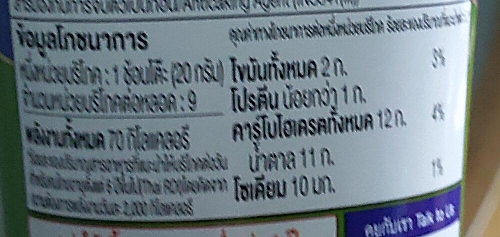 นมข้นหวาน รสชาเขียว มัทฉะ - Informations nutritionnelles - th