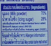 นมอัดเม็ด รสสตรอเบอรี่โยเกิร์ต - Ingrediënten - th