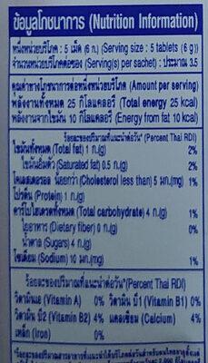 นมอัดเม็ด รสสตรอเบอรี่โยเกิร์ต - Voedingswaarden - th