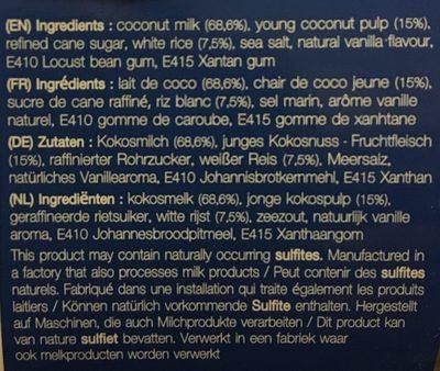 Reispudding Mit Kokosmilch - Sipso ( 2X120G ) - Ingrédients - fr