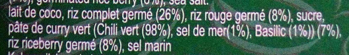 Riz Germé au Curry Vert - Ingrédients - fr