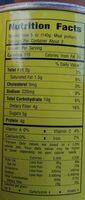 Mais doux - Informations nutritionnelles