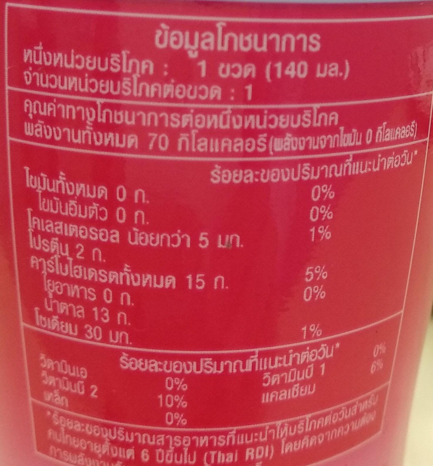 นมเปรี้ยว กลิ่นสตอเบอรี่ - Voedingswaarden - th