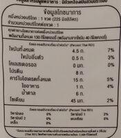 น้ำเต้าหู้ผสมเม็ดแมงลัก ตราโทฟุซัง - Nutrition facts - th