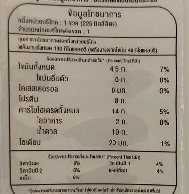 น้ำเต้าหู้ บุกธัญพืช 5 สี - Voedingswaarden - th
