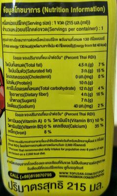 ซอยป๊อป - Información nutricional