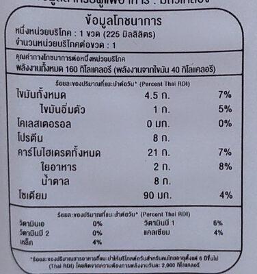 น้ำเต้าหู้ - Voedingswaarden - th