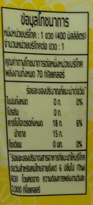 น้ำเก๊กฮวยผสมน้ำผึ้ง - Nutrition facts - th