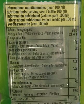 Eloa Original - Informations nutritionnelles - fr