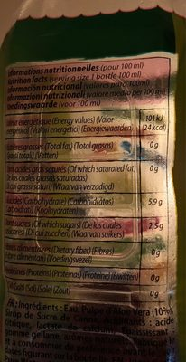Aloe Drink for life - Informations nutritionnelles