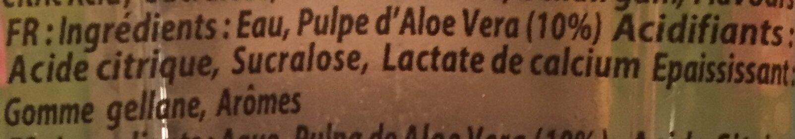 Aloe light - Ingredients - fr