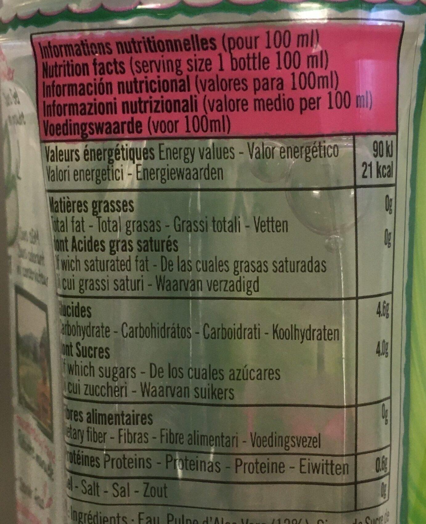 Eloa litchi - Nutrition facts - fr