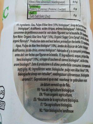 Aloe - Ingrédients