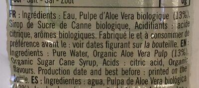 Boisson à l'Aloe vera bio - Ingredients - fr