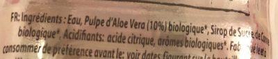 Boisson A L'aloé Vera - Ingredients - fr