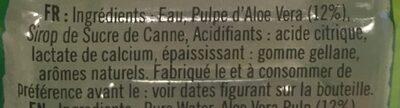 Aloe vera drink lychee flavour - Ingredients - fr