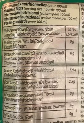 Nature aloe drink - Nutrition facts - fr