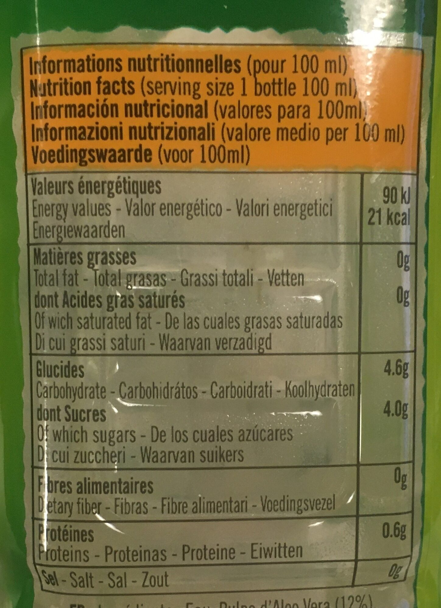 Eloa mangue - Informations nutritionnelles - fr