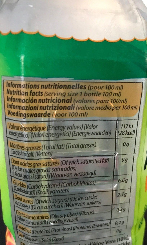Aloe - Nutrition facts - fr