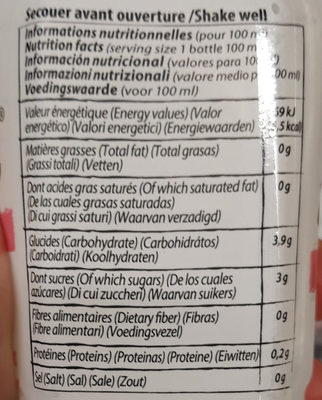 Boisson à l'aloé vera saveur litchi - Nutrition facts