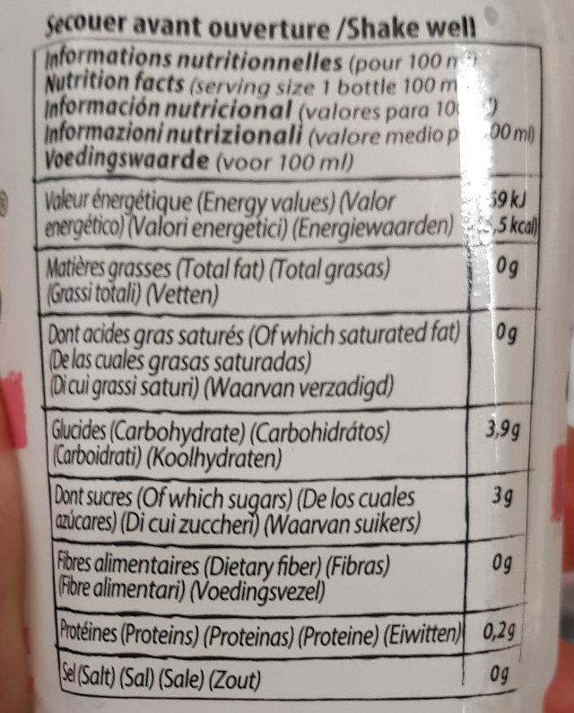 Boisson à l'aloé vera saveur litchi - Nutrition facts - fr