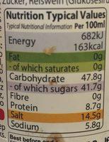 Yakitori Sauce - Informations nutritionnelles - en