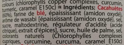 Wasabi Peanuts - Ingrediënten - fr