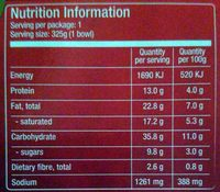 Seafood Tom Kha with Noodles (Thai Coconut Soup) - Nutrition facts