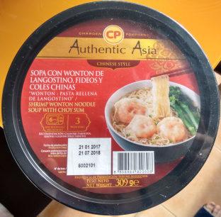 Sopa con wonton de langostino - Producto - es