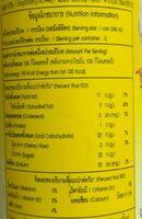 ชูการ์ฮัท น้ำกะทิผสมมะม่วง - Informations nutritionnelles - th