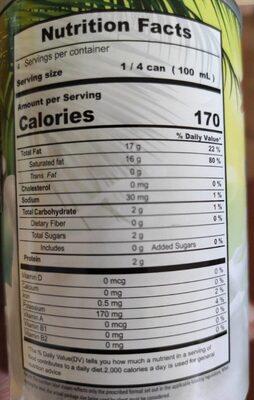 Coconut Milk - Informations nutritionnelles - fr