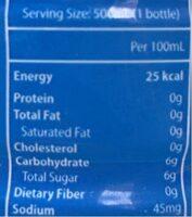 Pocari Sweat - Nutrition facts - en