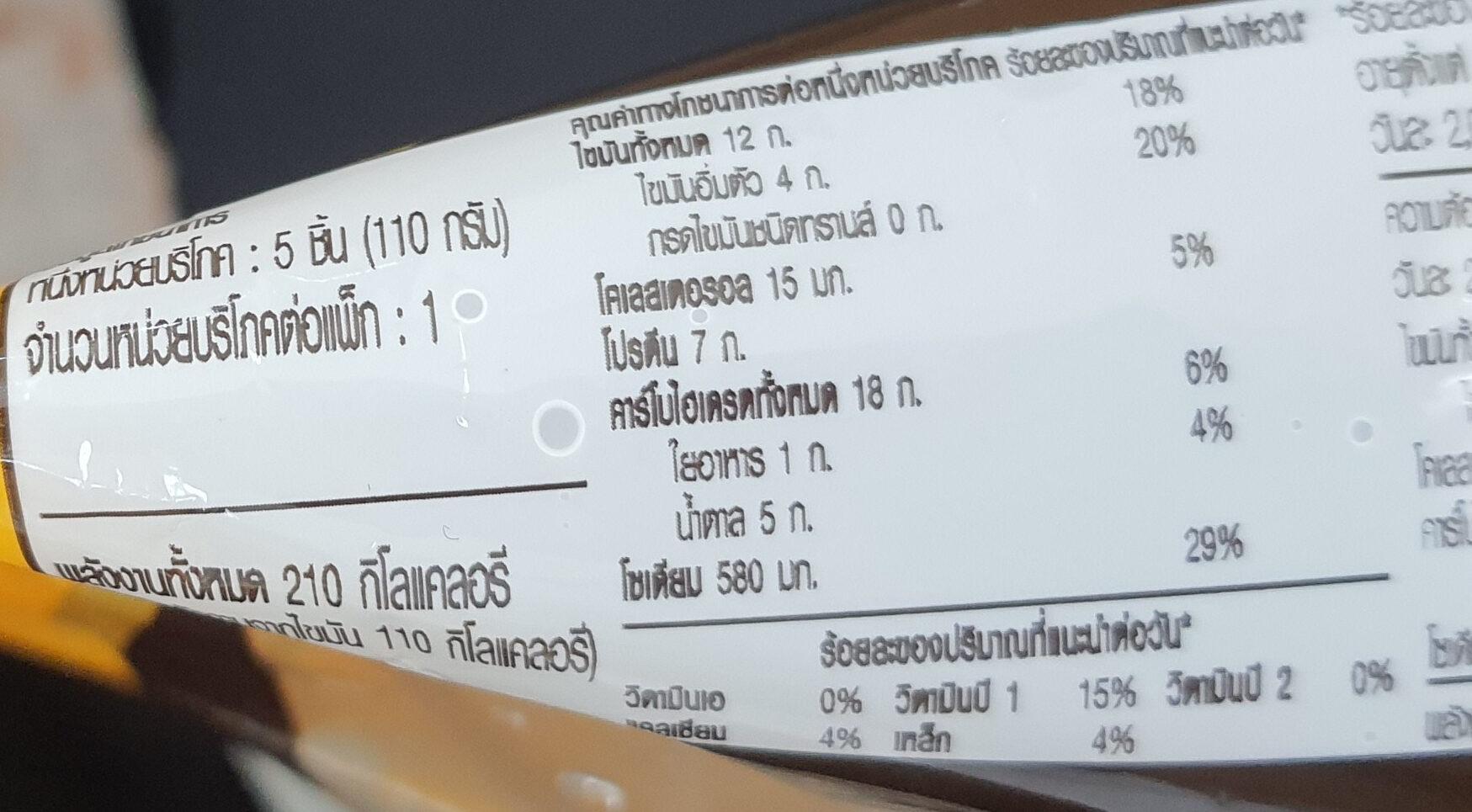 เกี๊ยวซ่าไส้หมูย่าง - Informations nutritionnelles - th