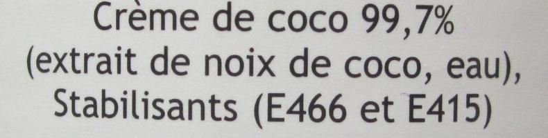 Crème de coco - Ingrédients - fr
