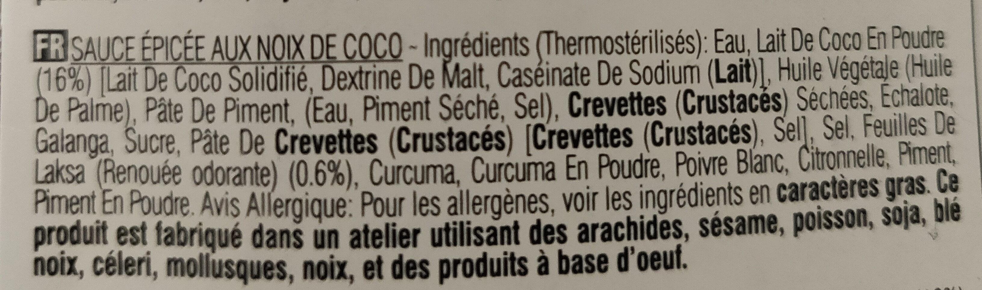 Laksa Fried Rice Sauce - Ingredients