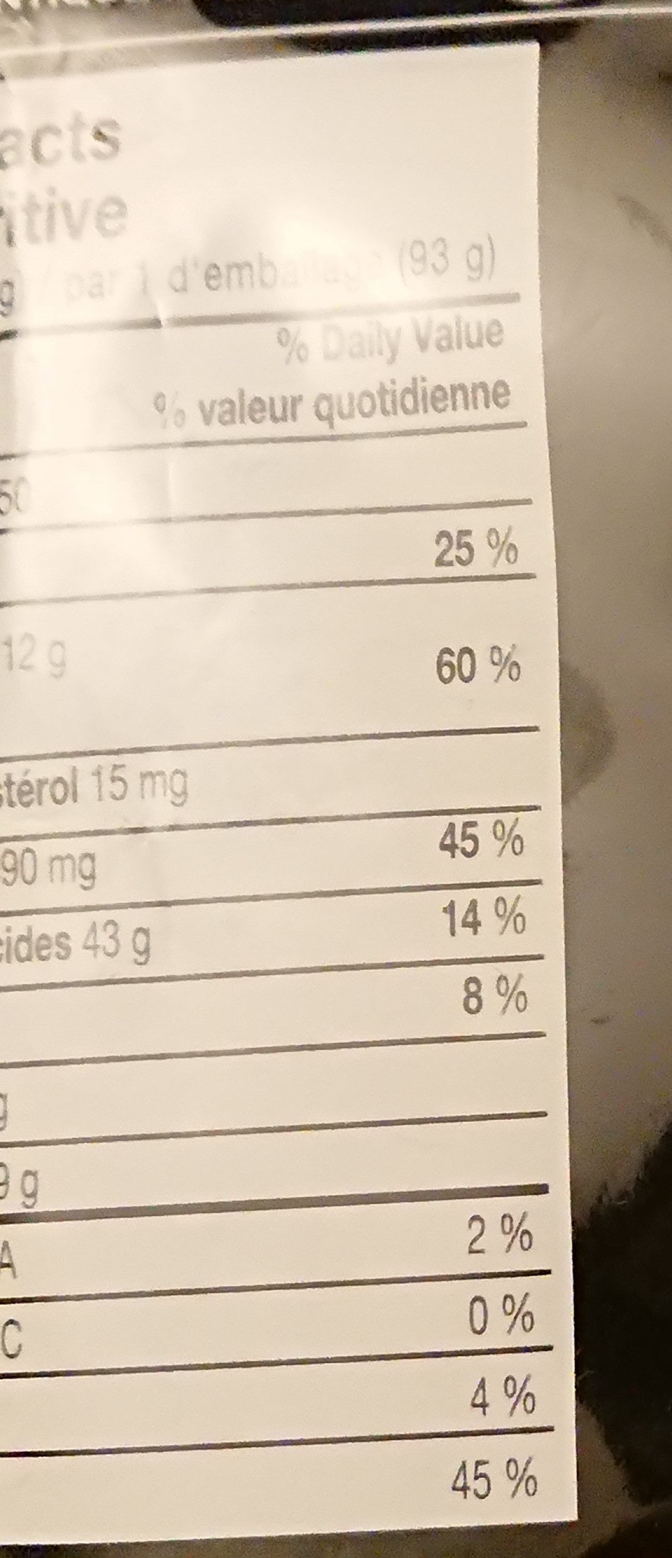 Prima Taste - Noodle - Nutrition facts