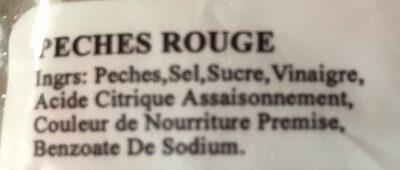 Peche rouge - Ingrediënten