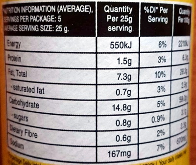 Tortilla Corn Chips - Cheese Supreme - Nutrition facts