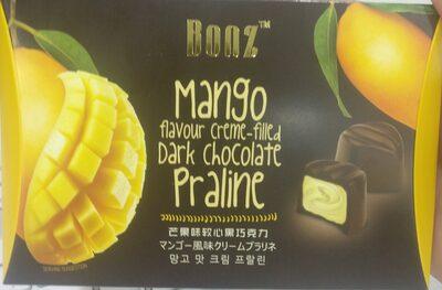 Mango Flavour Creme-filled Dark Chocolate Praline - 1