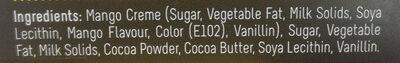 Mango Flavour Creme-filled Dark Chocolate Praline - Ingrediënten - en