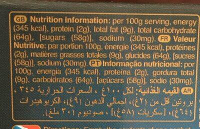MacCoffee - Informations nutritionnelles - fr