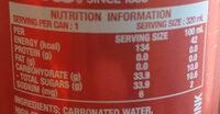 Coke Classic - Informations nutritionnelles