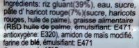 Glutinous Rice Ball Red Bean Paste Filling - Ingrédients - fr