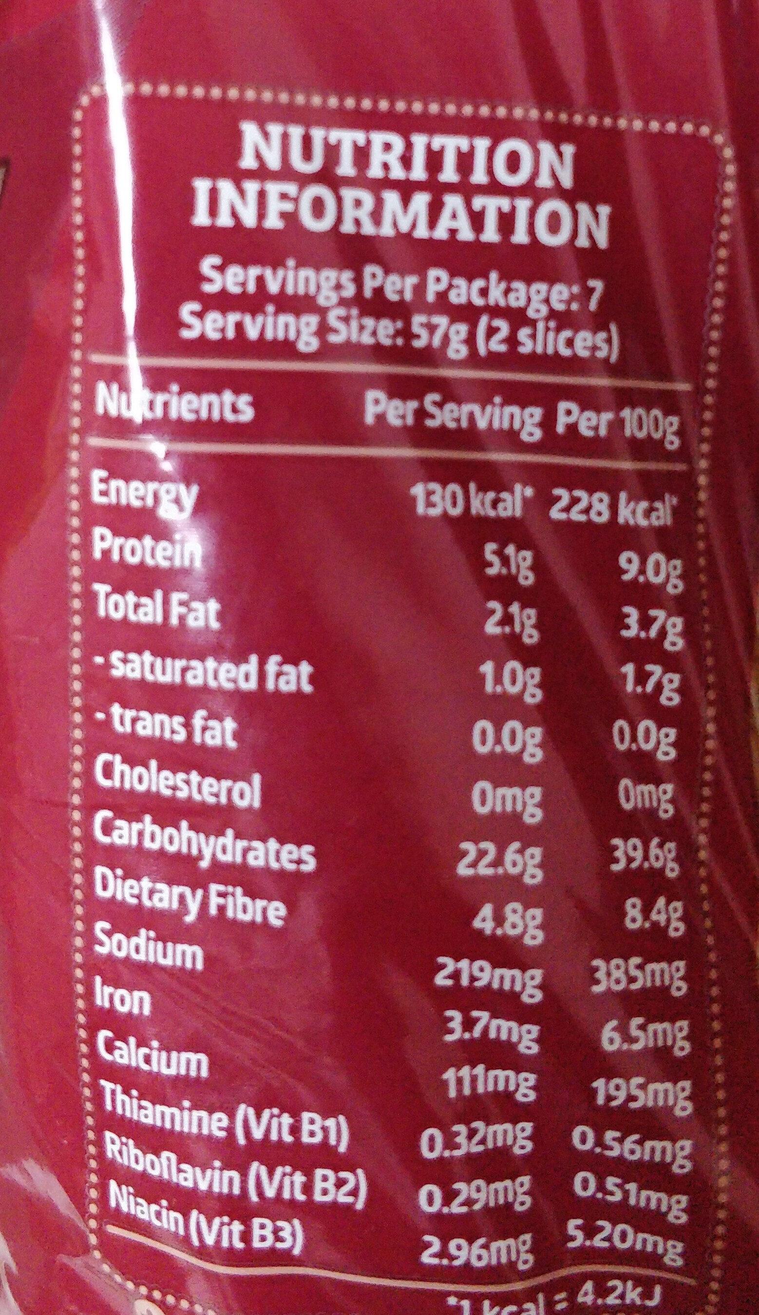 Enriched Softmeal Whole Grain Bread - Voedingswaarden - en