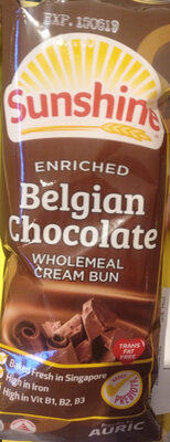 Enriched Chocolate Wholemeal Cream Bun - Produkt - en