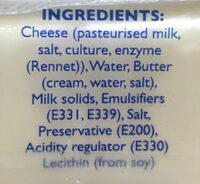 Sliced cheese - Ingrediënten - en