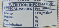 White beer - Voedingswaarden