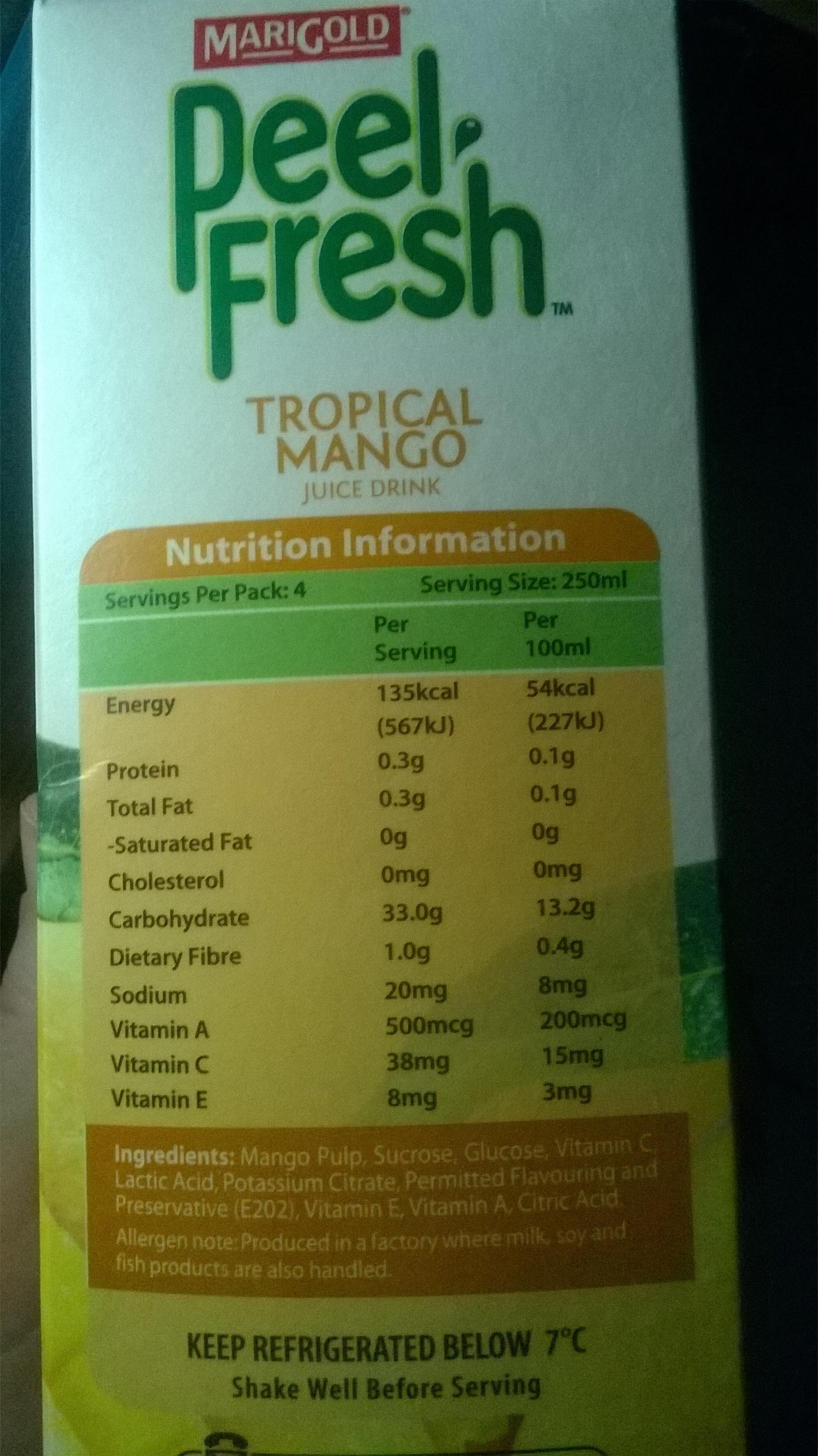 Marigold Peel Fresh Tropical Mango - Product